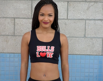 Bulls Love Ribbed Crop Top
