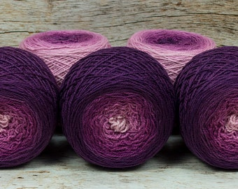 "Full "" Evil Stepmother "" -Lleap Handpainted Gradient Fingering Weight Yarn"