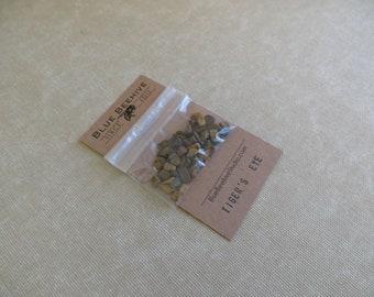 SBX09-10: Tiger's Eye, tiger eye stone chips, mojo bags, altar decoration. Prosperity, energy stone, Chakras 1-3  (SBX09-10)