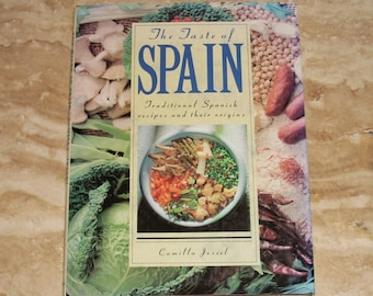 Spanish cookbook etsy the taste of spain traditional spanish recipes by camilla jessel 1990 cookbook hb book forumfinder Choice Image