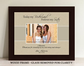 Bridesmaid Frame, Maid of Honor Frame, Personalized Gifts, Custom Picture Frame