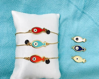 Fish in gold filled chain