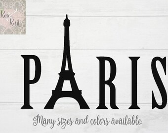 Paris Decal, Eiffel Tower Decal, Paris Wall Decor, Eiffel Tower Wall Decor, Paris Room Decor, Eiffel Tower Room Decor, Girls Room Decor