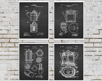 Coffee gift, Coffee decor set of 4 prints  Cafe Decor, Breakfast Bar Decor, Coffee wall art, Cafe wall decor, coffee shop decor