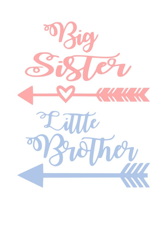 Big Sister Little Brother Svg File Quote Cut File Silhouette