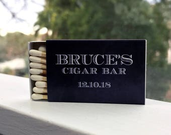 Stickers for Matchboxes - cigar bar, birthday matches, Personalised match box labels, wedding matches, wedding match box