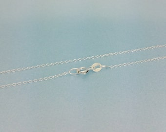"925 Sterling Silver Cable Chain. Finished 18"" Cable /Trace Chain necklace. Quantities of 1,5,10 or 20 available."
