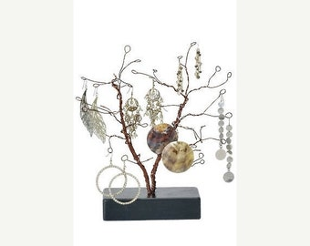 TAX SEASON Stock up 10.5 Inch Tall Forged Wire Jewelry Display Whimsical Design Tree