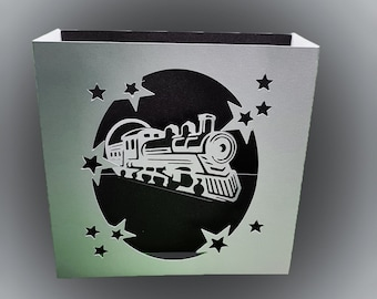 Steam Loco Birthday box card template