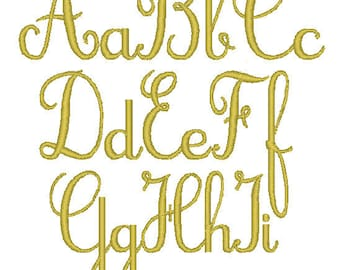 PES ONLY Cursive Font Machine Embroidery Monogram Set 4x4