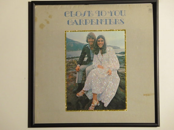 Glittered Record Album - The Carpenters - Close To You