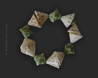 Bracelet Boho green sand shells Boho Chic Jewelry Jewellery shell jewelry