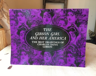 Gibson Girl and Her America Art Book - Women's Fashion, Charles Dana Gibson, Pen and Ink Drawings, Victorian, Royalty Free