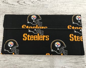 Steelers coupon organizer, money holder, pencil pouch