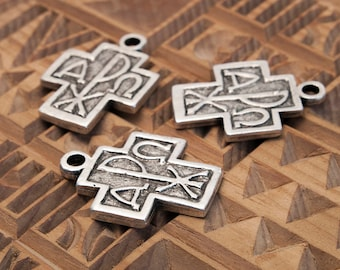 Alpha Omega, Chi-Rho, Cross, Pendant, Christian Symbol