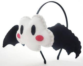 Black cloud headband bat