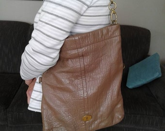 Vintage Fossil Leather Tote