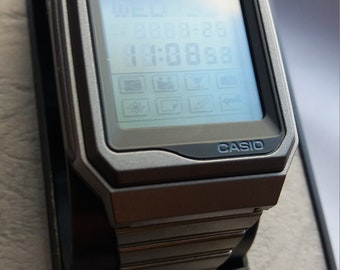 Vintage Casio Memory Project 200 Touch Screen Watch