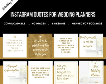 60 Social Media Instagram Quotes and Images Pack for Wedding Planners