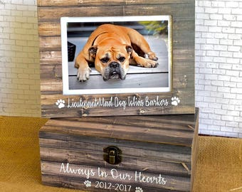 Pet Loss Frame| Pet Loss Keepsake Box| Dog Urn| Pet Loss Frame| Keepsake Box| Dog Memorial| Personalized Pet Loss| Dog Frame| Pet Memorial