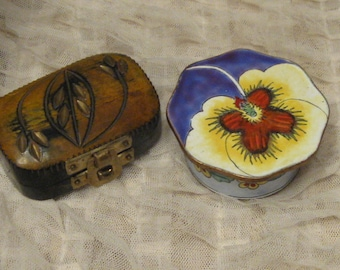Trinket Boxes - Ring Boxes - Cloisonne Box - Bridal Rings - Wedding Accessories - Treasure Boxes - Cufflink Box