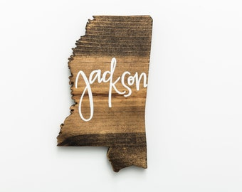 MS | Custom City Wood Wall Art