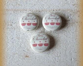 Set of 3 beads 20mm (hole down) porcelain figure woman pin-up, handmade