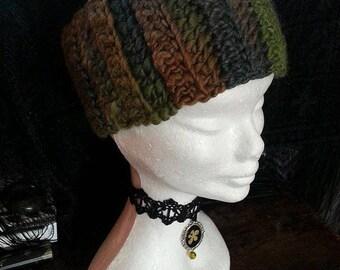 PRICE DROP! ForestFae Headband, Crochet Ear Warmer, Pixie, Head Band, Forest Green Head Band, Ladies Headband, Ladies Ear Warmer, Festival