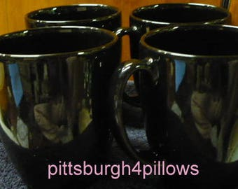 4 - Corelle -Black Coffee Mugs - EUC - Price Is For All