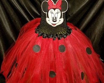 """Minnie mouse inspired"""" 3 layer tutu dress"""