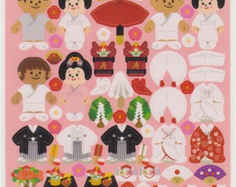 Japanese Stickers - Wedding Stickers - Kisekae Stickers - Reference C670-73