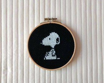 Cross Stitch Cartoon Characters Snoopy Peanuts Decoration