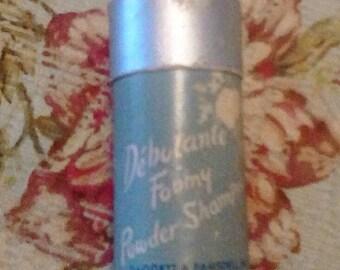 Vintage Debutante Foamy Powder Shampoo container
