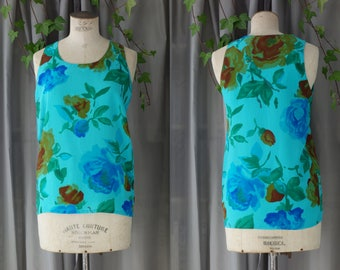 Cocon floral silk blouse | 1990's by cubevintage | small to medium