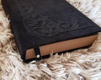 suede journal nlank book  handmade