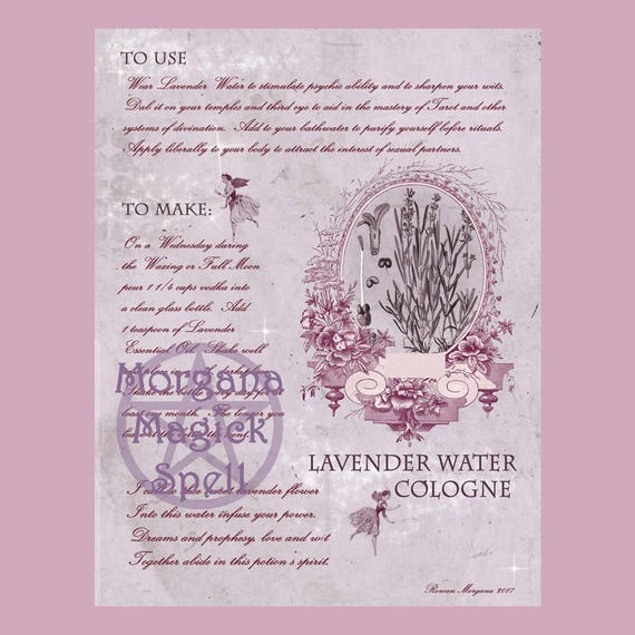 Lavender Water Cologne & Label Sheet