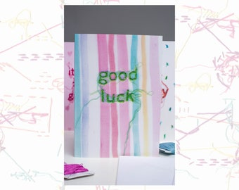 Good Luck Card - Luck Card - Greeting Card