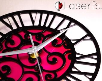 Laser Cutout See-Through Clock