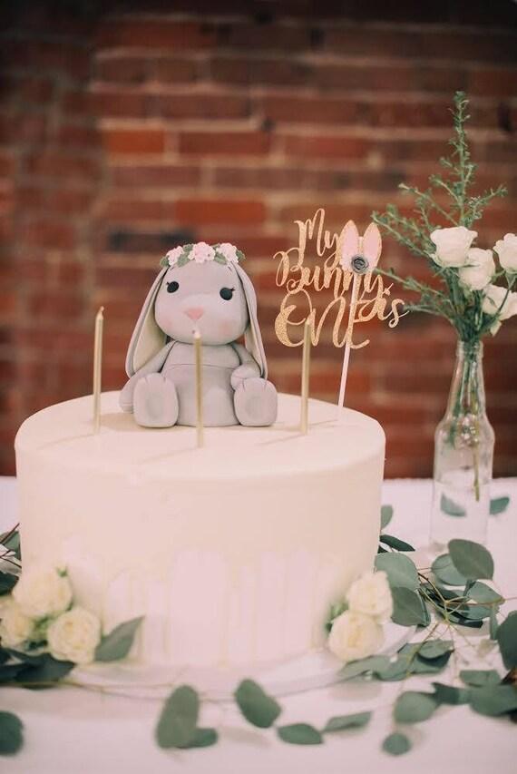 Bunny BirthdayBunnyMy bunny is one bunny cake topper bunny