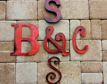 Family Initials - Painted Wall Initials - Wall Letters