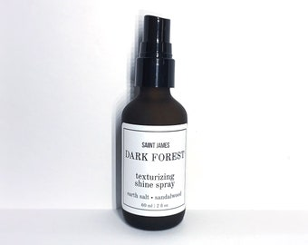 DARK FOREST | Texturizing Shine Spray - Aloe Vera, Mineral Earth Salt, Sandalwood, Lavender | Hair Spray (2 oz)