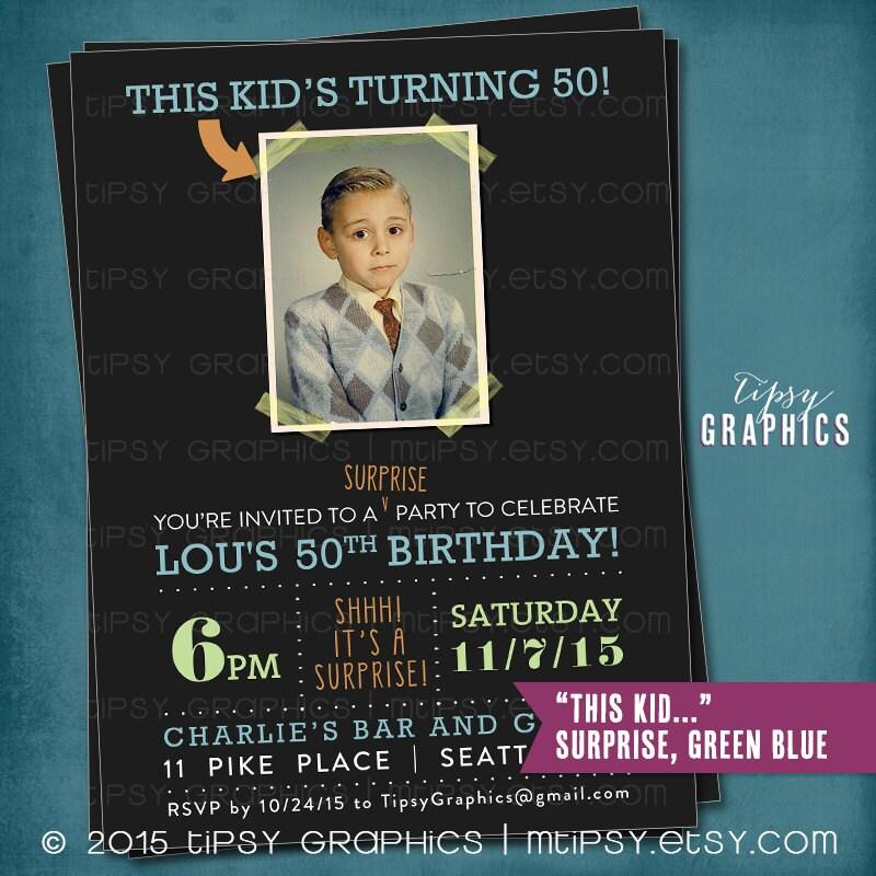 Milestone Surprise Birthday Party Invite. This Kid\'s