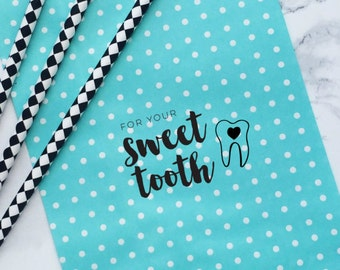 Sweet Tooth Stamp, Wedding Favor Stamp, Candy Bar Stamp, Stamp for Favors, Stamp for Sweets, Sweet Treat Stamp, Treat Bag Stamp, Favor Stamp