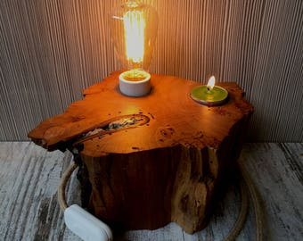 Woodlamp Cherry Wood Lamp