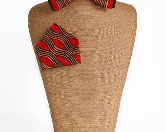 Bow tie classic Wax & red handkerchief