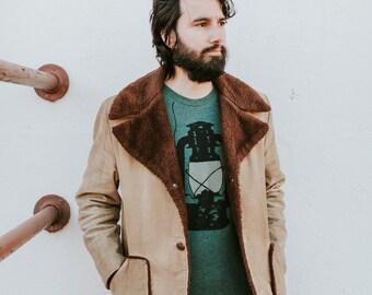 Wanderlust Mens Tshirt, Christmas Clothing Gift for Men, Camping Lantern Shirt, Outdoor Gift, Travel Gift for Him, BLACKBIRDSUPPLY SALE