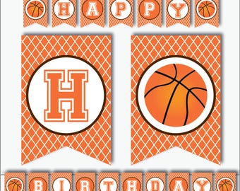 Basketball Banner - Basketball Birthday Banner - Basketball Party Banner - Printable Banner - Basketball Decorations (Instant Download)
