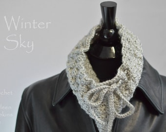 Cowl Crochet Pattern Beautiful textured cowl pattern Winter Sky Easy crochet pattern Women Men Teens Unisex quick gift INSTANT pdf DOWNLOAD