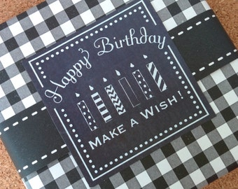 Chalkboard Style Birthday Labels
