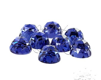1pcs AAAAA 6mm Tanzanite Cubic Zirconia, Rose Cut, Flat Back Cubic Zirconia, Round Shape, Dark Tanzanite Cubic Zirconia, SD16R, Height 4.1mm
